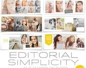 INSTANT DOWNLOAD Editorial Simplicity FB Timeline Covers vol2