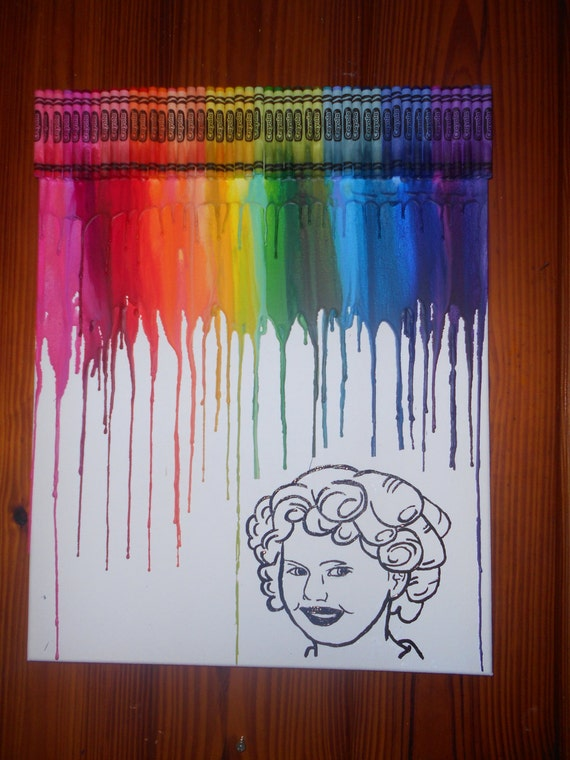 Shirley Temple Inspired Melted Crayon Art Painting