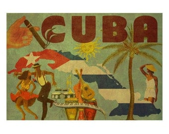 CUBA 2FS- Handmade Leather Photo Album - Travel Art
