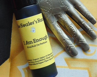 I Am Enough - Solar Plexus Organic Chakra Roll On Perfume ~ 10 ml Cobalt Blue Bottle  ~ Enhanced with Reiki