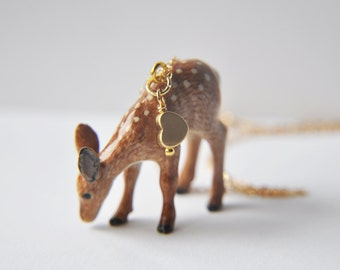 Deer Necklace, Fawn Necklace, Woodland Necklace, Animal Necklace, Nature Necklace, Unique Necklace, Animal Jewelry, Nature Jewelry, deer