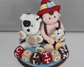 Custom Fireman Cake Topper for Birthday or Baby Shower