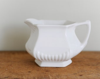 Vintage ironstone, English ironstone, ironstone creamer, kitchen ware