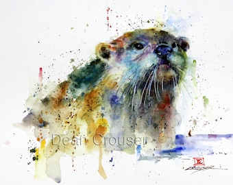 OTTER Watercolor Print by Dean Crouser