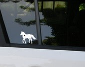 Horse car decal, equine, equestrian, horse sticker, horse decal, pony, equine decal