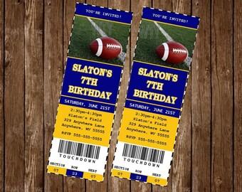 FOOTBALL  Invitation Card, free customization, printable Hi-Res Design