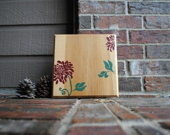 Reclaimed Wood Floral Wall Art - Wall Decor - Flower