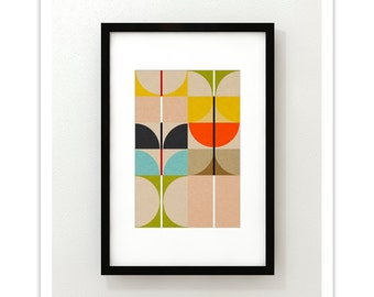 SWAN no.2 - Giclee Print - Mid Century Contemporary Modern Abstract Modernist Art