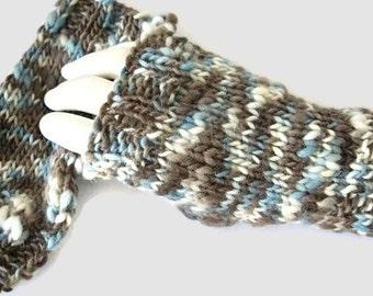 Knit Fingerless Gloves, Winter Gloves, Txting Gloves, Merino Gloves, Womens Gloves, Knit Wristwarmers - MADE TO ORDER
