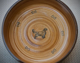 Golden Retriever Bowl in Tan and Chocolate (Extra Large)