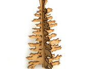 Modern Wood Christmas Tree - Christmas Decoration, Christmas Decor, Standing Tree, Alpine Tree, Fir Tree, Holiday Tree