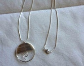Just Reduced-Silvery Wire Wrapped Light Weight Circular Necklace