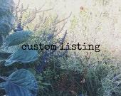 Custom listing for Thilie
