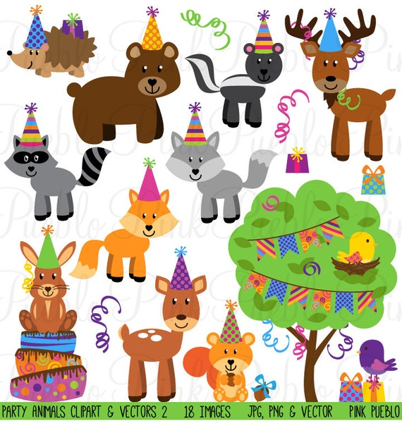 Birthday Party Animals Clipart Clip Art Forest Woodland