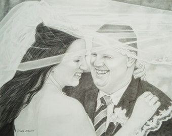 Custom Commissioned Wedding Portrait