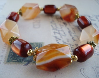Agate & Cat's Eye Stretch Bracelet Free Shipping