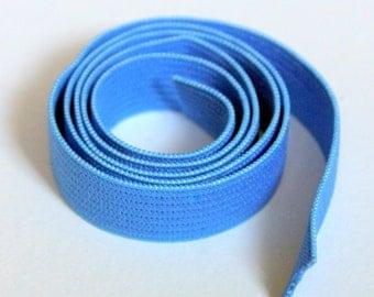 Blue Half Inch Elastic, 5 yds Flat Braided Elastic, Craft Supplies, Sewing Notions, elas012/5