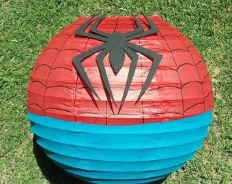 Spider-man Inspired Paper Lantern Decoration