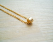 Midas touch -necklace (tiny gold bead on a gold plated chain 16 inch necklace chain)