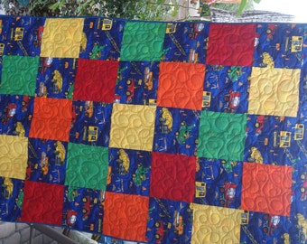 Trucks, Trucks and MORE Toddler Bed Size Quilt