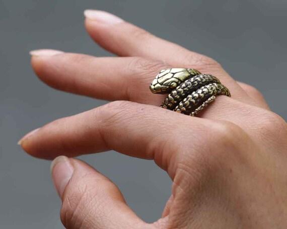 Snake Ring - Gold Snake Ring - Ouroboros - Ouroboros Ring - Snake Jewelry