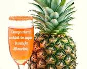 Cocktail rimming sugar - orange colored rim sugar in bulk for 50 martini glasses, bartender mix kit, signature drink, orange wedding sugar