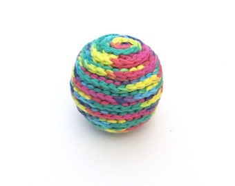 Spiral Squeaker Dog Ball Toy - Choose Your Color