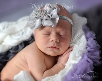 Silver baby Hedband,Baby Headbands, Baby tiara headband,newborn headband,Baby girl Headband,Baby Princess Tiara Headband, Crown headband.