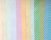 Diagonal Stripe VALUEPACK of 5 different color edible image wafer papers for your cookies, chocolates, cakes and cupcakes