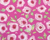 Love Roses Pink (PWDF184) - Dena Fishbein Designs - TIDDLYWINKS - Free Spirit Fabric  - By the Yard