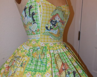 Holly Hobby Vintage patchwork Custom Made to Order Sweet Heart Geekery Pin Up Mini Dress
