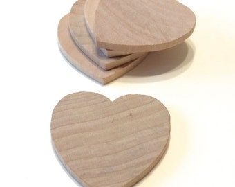 100 Little Wooden Hearts - 1 1/2 Inch