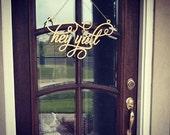 Hey Y'all Door Hanger
