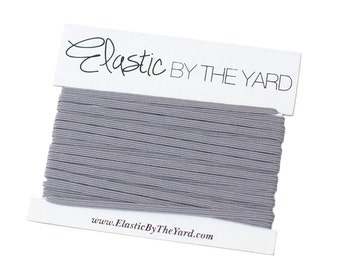 GRAY Skinny Elastic for Baby Headbands 1/8 inch - 5 yards