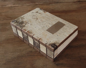 birch bark wedding guest book - personalized custom wood book fall wedding brown custom - made to order