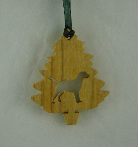 Labrador Retriever Christmas Tree Ornament Handmade From Poplar Wood Black Lab, Yellow Lab, Golden Lab, Chocolate Lab