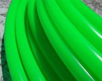 "5/8"" UV Gratitude Green Colored Polypro Hula Hoop with Custom Tubing Size, Diameter & Grip Options!"