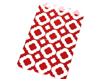VALENTINES DAY Red Favor Bags  Favor Bags Wedding Vintage Style Wedding Favors 12 Quatrefoil Candy Buffet Bags Dessert Bar Baby Shower Bags