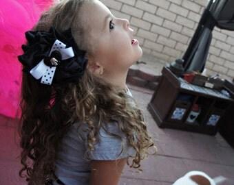 Olivia Paige -Punk rock Rockabilly polka dot  Cameo skull Heart  hair clip