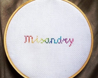 Rainbow misandry embroidery