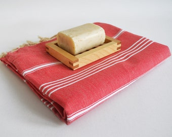 SALE 50 OFF/ Turkish Beach Bath Towel / Classic Peshtemal / Red / Wedding Gift, Spa, Swim, Pool Towels and Pareo