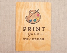 Real Wood Wedding Invitations - Your Design Printed on Wood