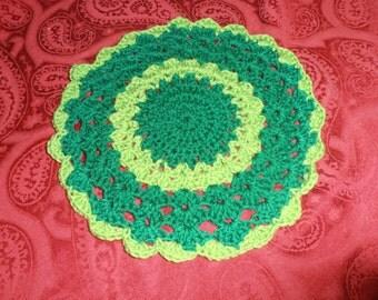 crochet dolily, hot pad, kitchen, houseware, homw decor