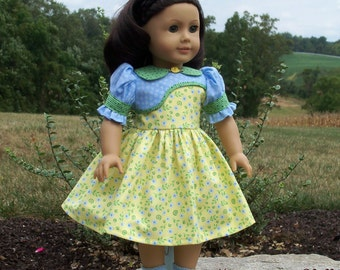"PDF Sewing Pattern / Ruthie's School Dress for American Girl Kit, Ruthie, Molly or other 18"" Dolls"