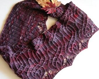 Hand knitting PDF pattern - Arbor Long Cowl / Tierceron 4