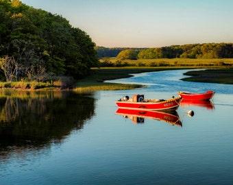 Boats on the Bass River, Cape Cod, MA