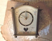 Vintage Schmid Alarm Clock / Table Clock / West Germany / Hand Painted