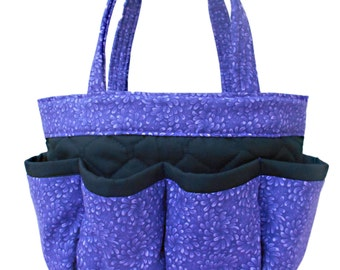 Purple Bingo Bag // Craft Organizer // Makeup Organizer // Caddy // Teacher Tote // Nurse Tote