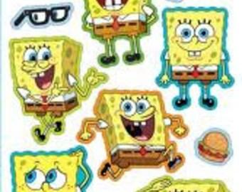 Puffy Spongebob Stickers