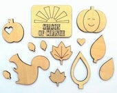 Autumn Wood Craft Shapes, Season Of Change Wood Veneer Shapes, Fall Wood Shapes, Wood Leaves, Autumn Scrapbook Embellishments, Cardmaking
